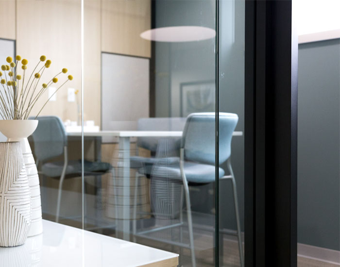 clearwall glass office walls by trendway